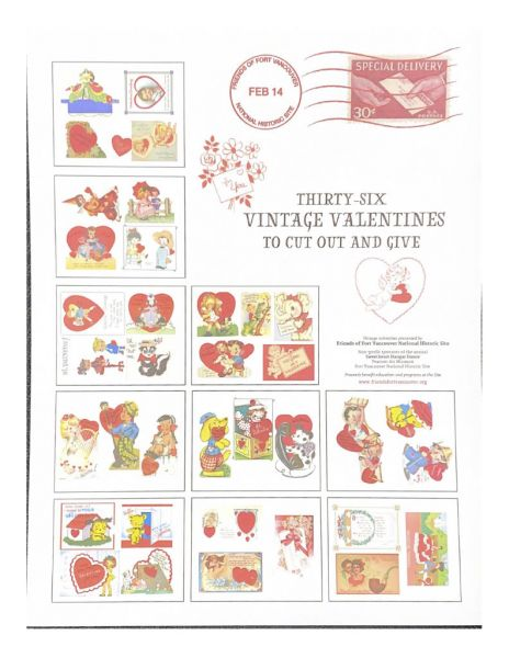 Thirty-Six Vintage Valentines to cut out and give